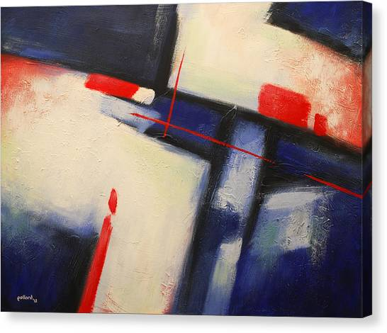 Abstract Red Blue Canvas Print