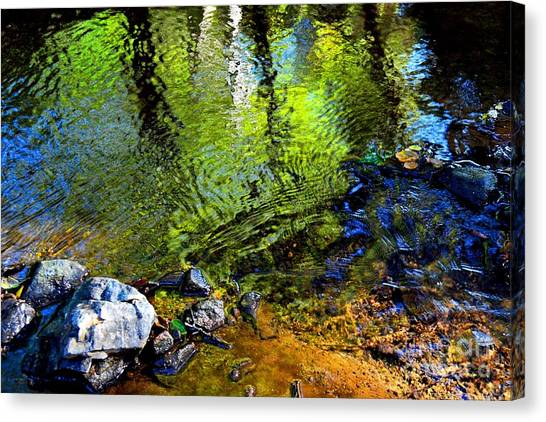 Abstract Ripples Canvas Print
