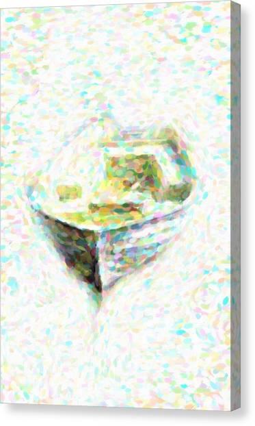 Abstract Rowboat Canvas Print