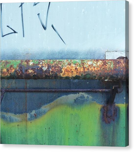 Old Age Canvas Print - Abstract Rust by Rene Constantin