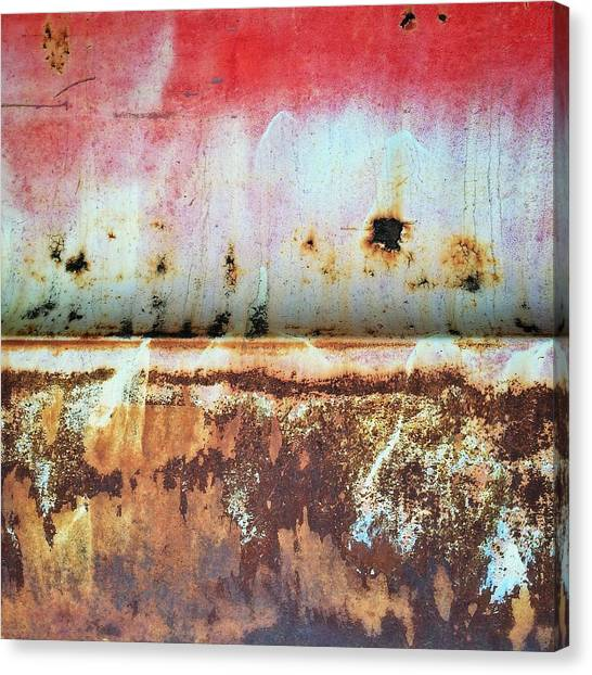 Old Age Canvas Print - Abstract Rusty Truck by Rene Constantin