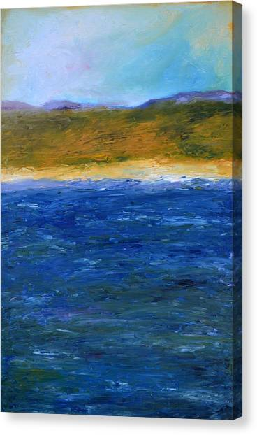 Abstract Seascape Canvas Print - Abstract Shoreline by Michelle Calkins