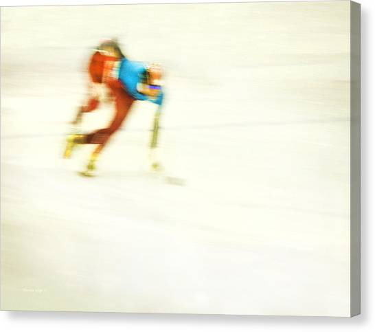 Speed Skating Canvas Print - Abstract Speed Skate by Theresa Tahara