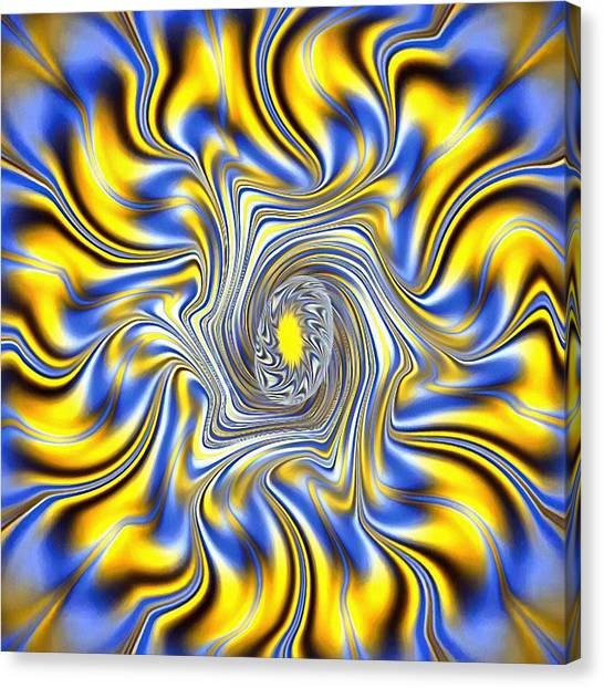 Abstract Spun Flower Canvas Print