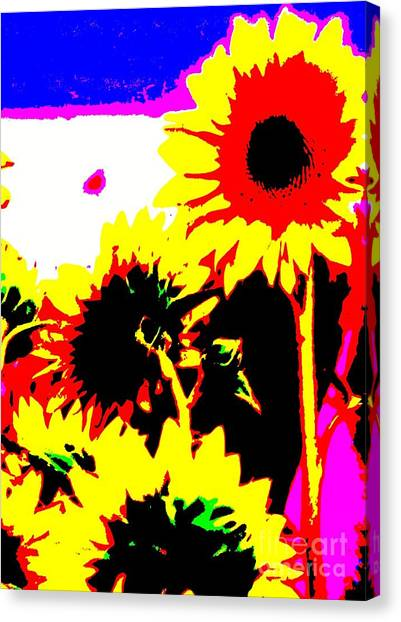 Sun Belt Canvas Print - Abstract Sunflower by Eric  Schiabor