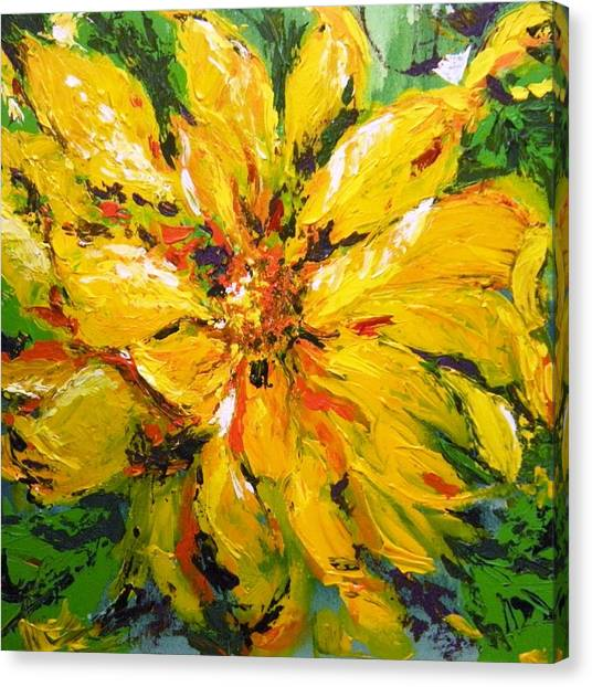 Abstract Sunflower Canvas Print
