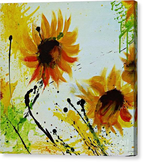 Abstract Sunflowers 2 Canvas Print