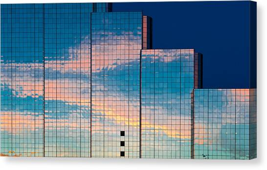 Abstract Sunset Canvas Print