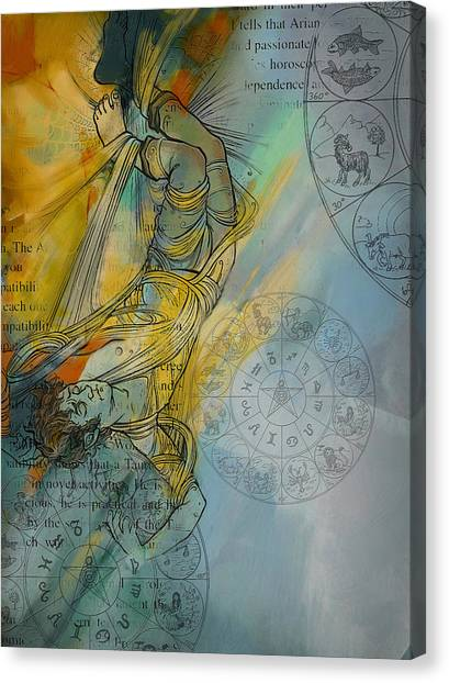 Torah Canvas Print - Abstract Tarot Art 015 by Corporate Art Task Force