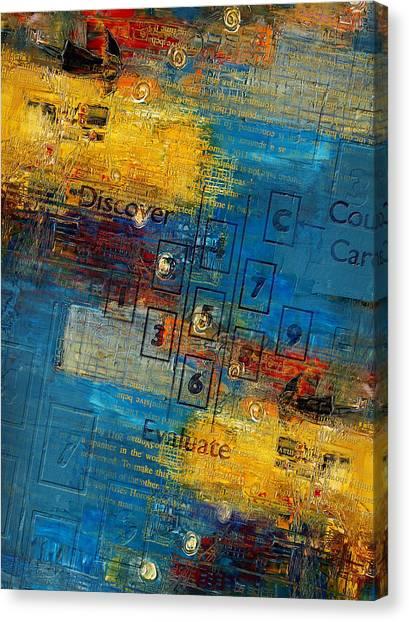 Torah Canvas Print - Abstract Tarot Art 016 by Corporate Art Task Force