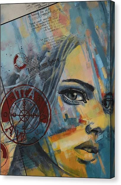 Torah Canvas Print - Abstract Tarot Art 022a by Corporate Art Task Force