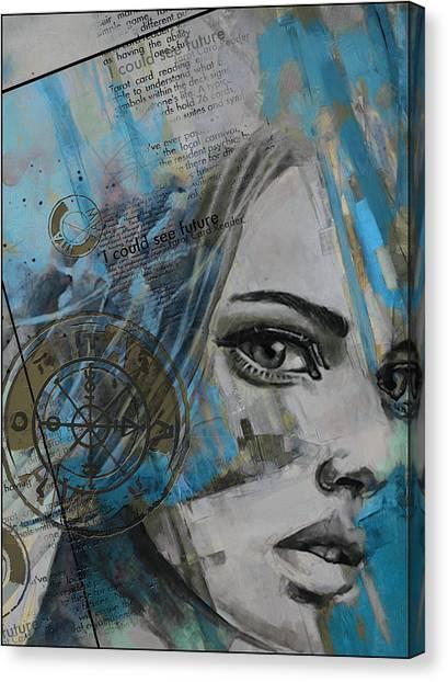 Torah Canvas Print - Abstract Tarot Art 022c by Corporate Art Task Force