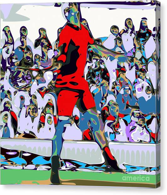 Roger Federer Canvas Print - Abstract Tennis by Chris Butler