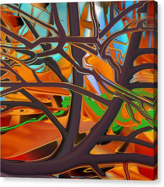 Abstract - Tree In Autumn Canvas Print