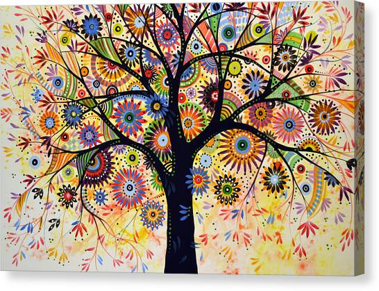 Abstract Tree Painting ... Life Giver Canvas Print