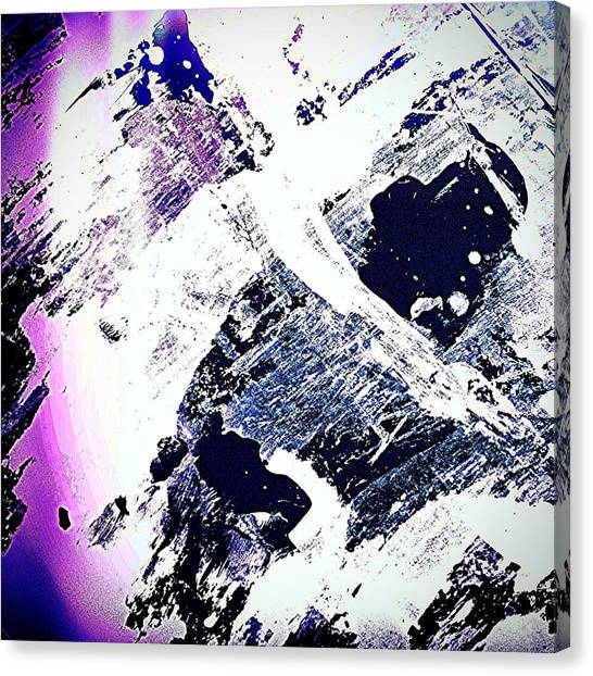 Watercolor Canvas Print - Purple And White 2 by Jason Michael Roust