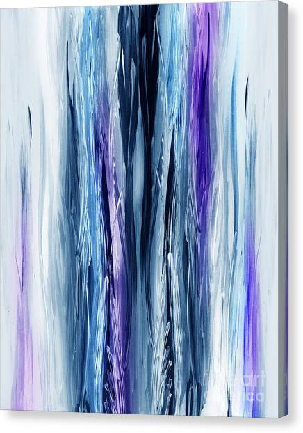 Irina Canvas Print - Abstract Waterfall Purple Flow by Irina Sztukowski