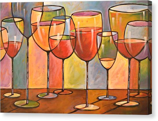 Wine Country Canvas Print - Abstract Wine Art ... Whites And Reds by Amy Giacomelli