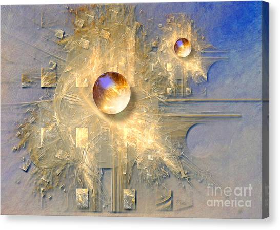 Abstract With Balls Canvas Print