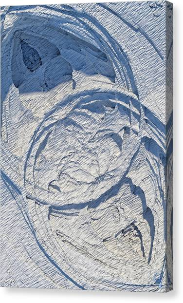 Abstract With Blue Shadows Canvas Print