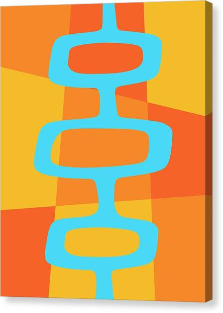 Abstract With Turquoise Pods 3 Canvas Print