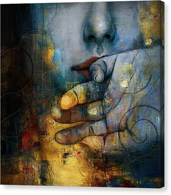 Conceptual Art Canvas Print - Abstract Woman 011 by Corporate Art Task Force
