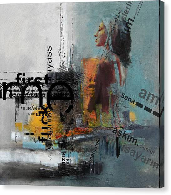 Conceptual Art Canvas Print - Abstract Women 013 by Corporate Art Task Force