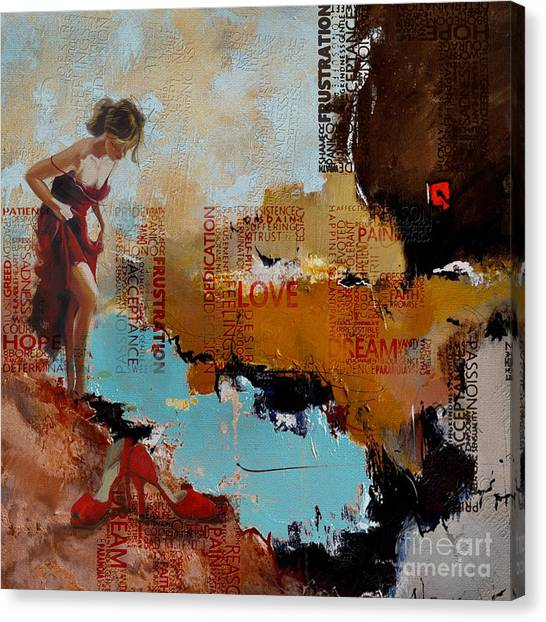 Abstract Women 24 Canvas Print