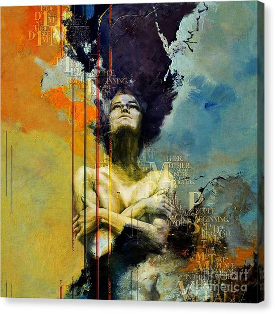 Abstract Women 3 Canvas Print