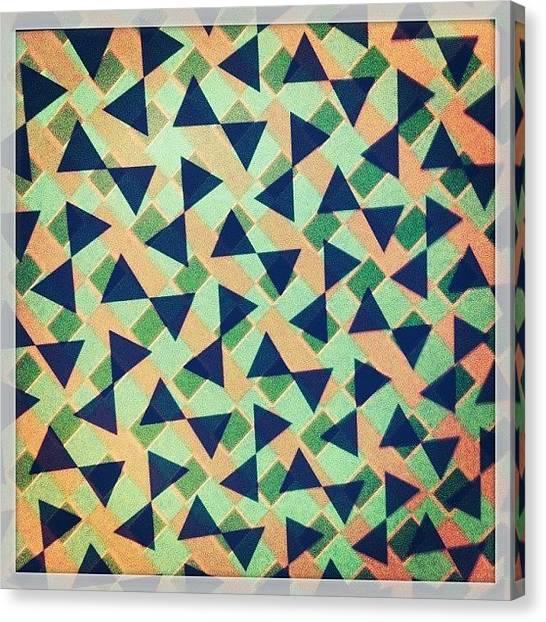 Triangles Canvas Print - #abstractart #overlayart #art #pattern by Migdalia Jimenez