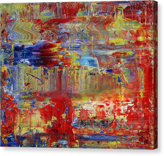 Gerhard Richter Canvas Print - Abstraction And Air by Daniel Johnstone