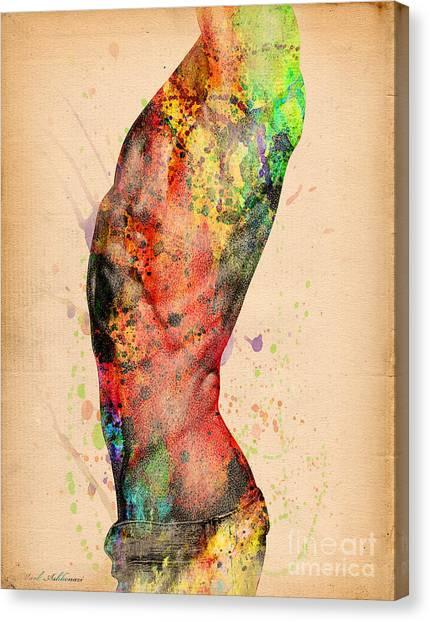 Sensual Canvas Print - Abstractiv Body - 3 by Mark Ashkenazi