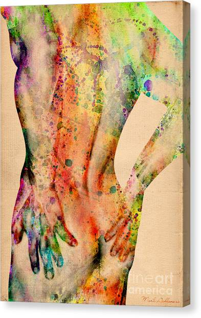 Bodybuilder Canvas Print - Abstractiv Body - 4 by Mark Ashkenazi