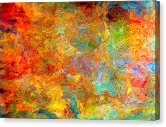 Abstracto Impasto Canvas Print