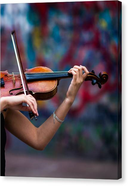 Violins Canvas Print - Abstracts From Vivaldi - Featured 3 by Alexander Senin