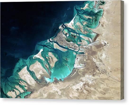 Satellite Canvas Print - Abu Dhabi by Planetobserver