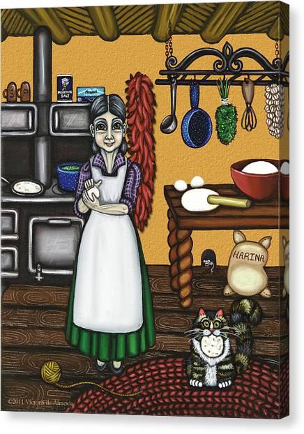 Grandma Canvas Print - Abuelita Or Grandma by Victoria De Almeida