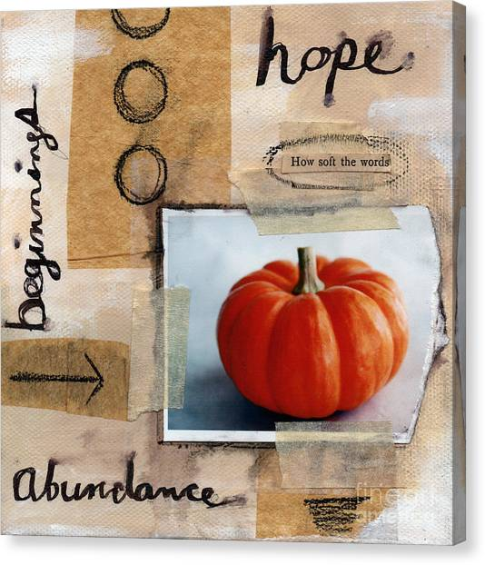 Pumpkins Canvas Print - Abundance by Linda Woods