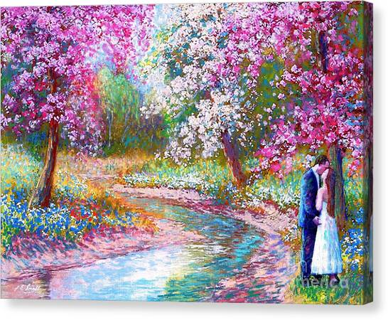 Bride Canvas Print - Abundant Love by Jane Small