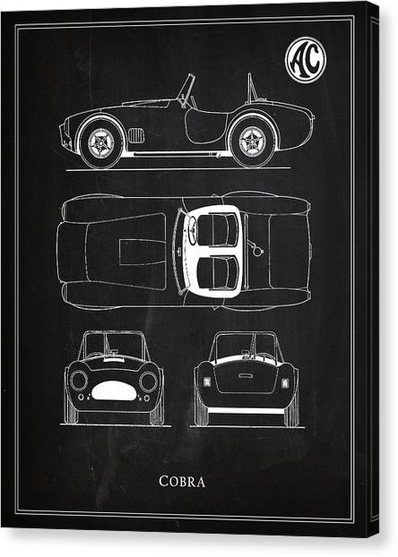 Car blueprint canvas prints page 5 of 25 fine art america car blueprint canvas print ac cobra by mark rogan malvernweather Gallery