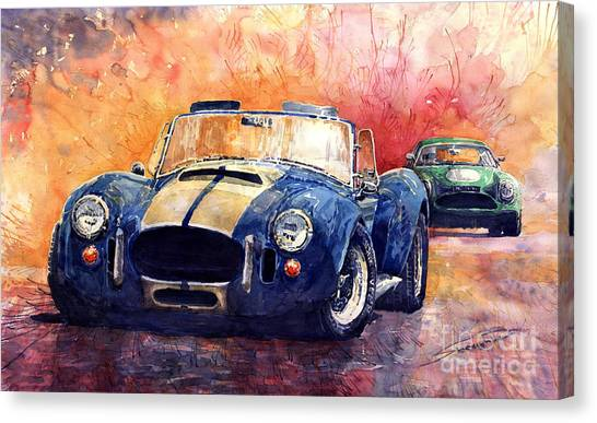Cobras Canvas Print - Ac Cobra Shelby 427 by Yuriy Shevchuk