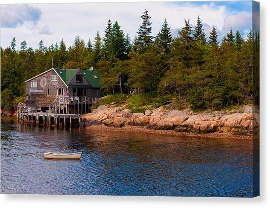 Acadia Fishing Village Canvas Print