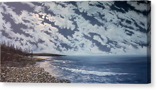 Acadia Moon Canvas Print