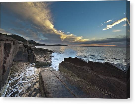 Acadia Sunrise Canvas Print