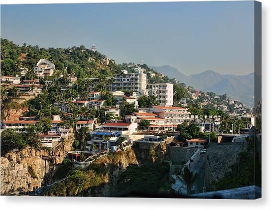 Acapulco Canvas Print - Acapulco Hillside Living by Linda Phelps