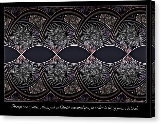 Accept One Another Canvas Print