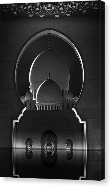 Mosques Canvas Print - Access To Heavens by Ahmed Thabet