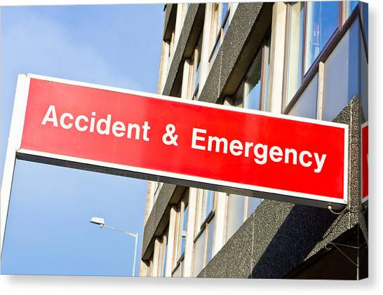Life-threatening Canvas Print - Accident And Emergency by Tom Gowanlock