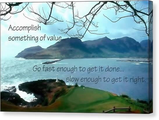 Accomplish Value 21168 Canvas Print