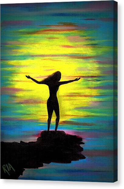Women Canvas Print - Accomplished by Artist RiA